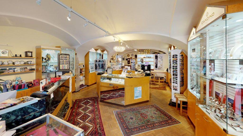 Kleines Juweliergeschäft in Bad Radkersburg Juwelier Hollerer virtueller Rundgang