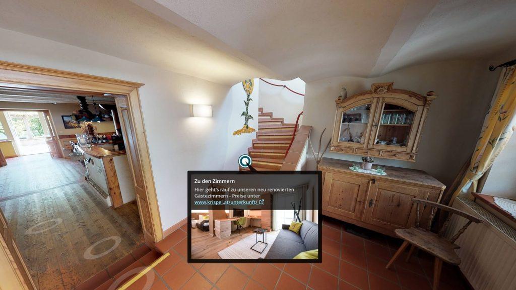 infopoint in einem virtuellen rundgang vom weingut krispel