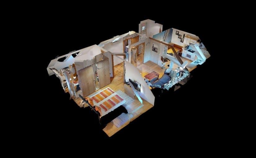 3d puppenhaus ansicht von oben virtueller immobilien rundgang matterport