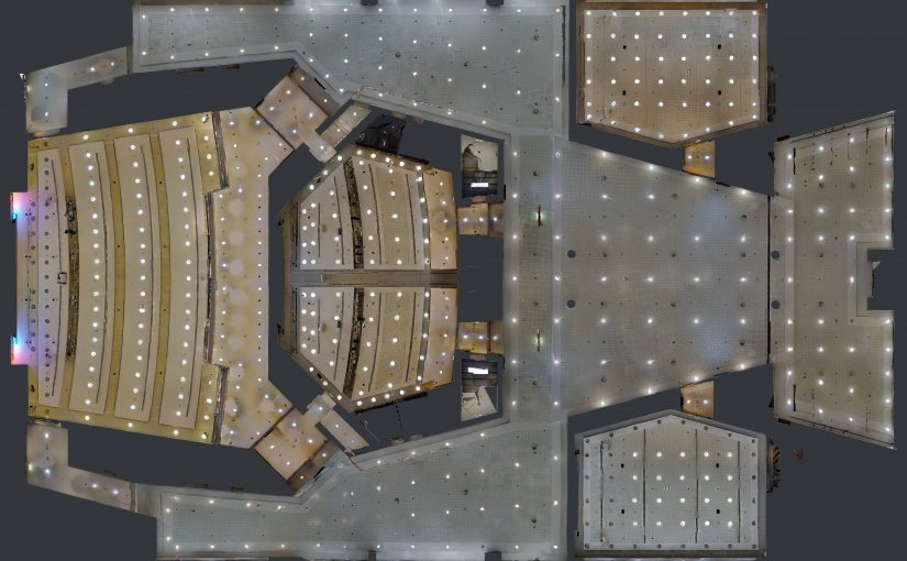 deckenplan einer virtuellen immobilie von matterport
