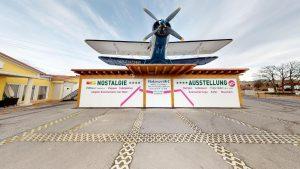 virtuelle museen in oesterreich flugzeug auf dach als titelbild virtuelles museum