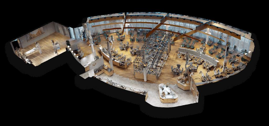ausschnitt aus einem virtuellen 3d modell